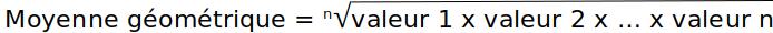 moyenne_geometrique_formule_calcul